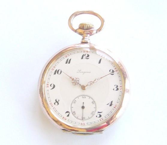 aed9fb0da56 VENDIDO-------------Impecável longines em Prata de 1927!! - Relogios ...
