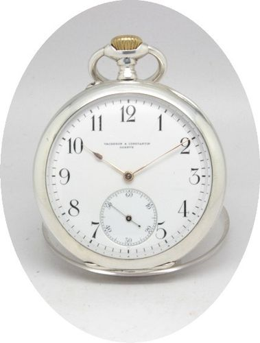 Rare Silver Vacheron Constantin Pocket Watch, ca. 1909.