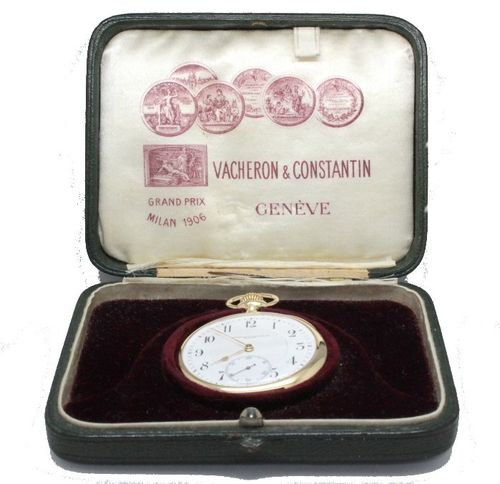 Impeccable Vacheron Constantin in 18k Gold, with original case.